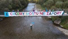 Protest przeciw zbiornikowi Kąty-Myscowa