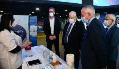 Izrael szczepienia: Reuven Rivlin wizytuje punkt szczepień
