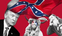 QAnon, Donald Trump i człowiek-bizon