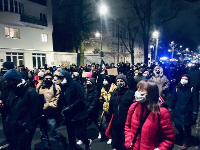 Warszawa, protest 27.01.2021