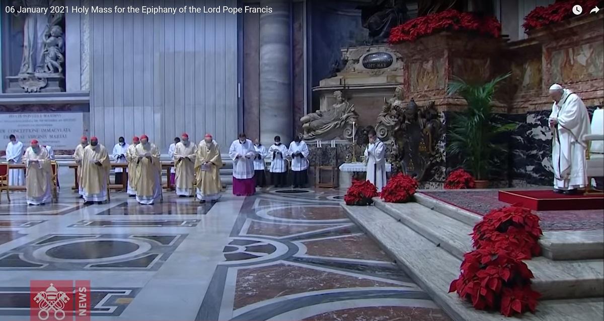 Msza Św. w Watykanie w uroczystość Trzech Króli