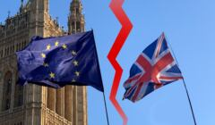 brexit flagi UE i UK