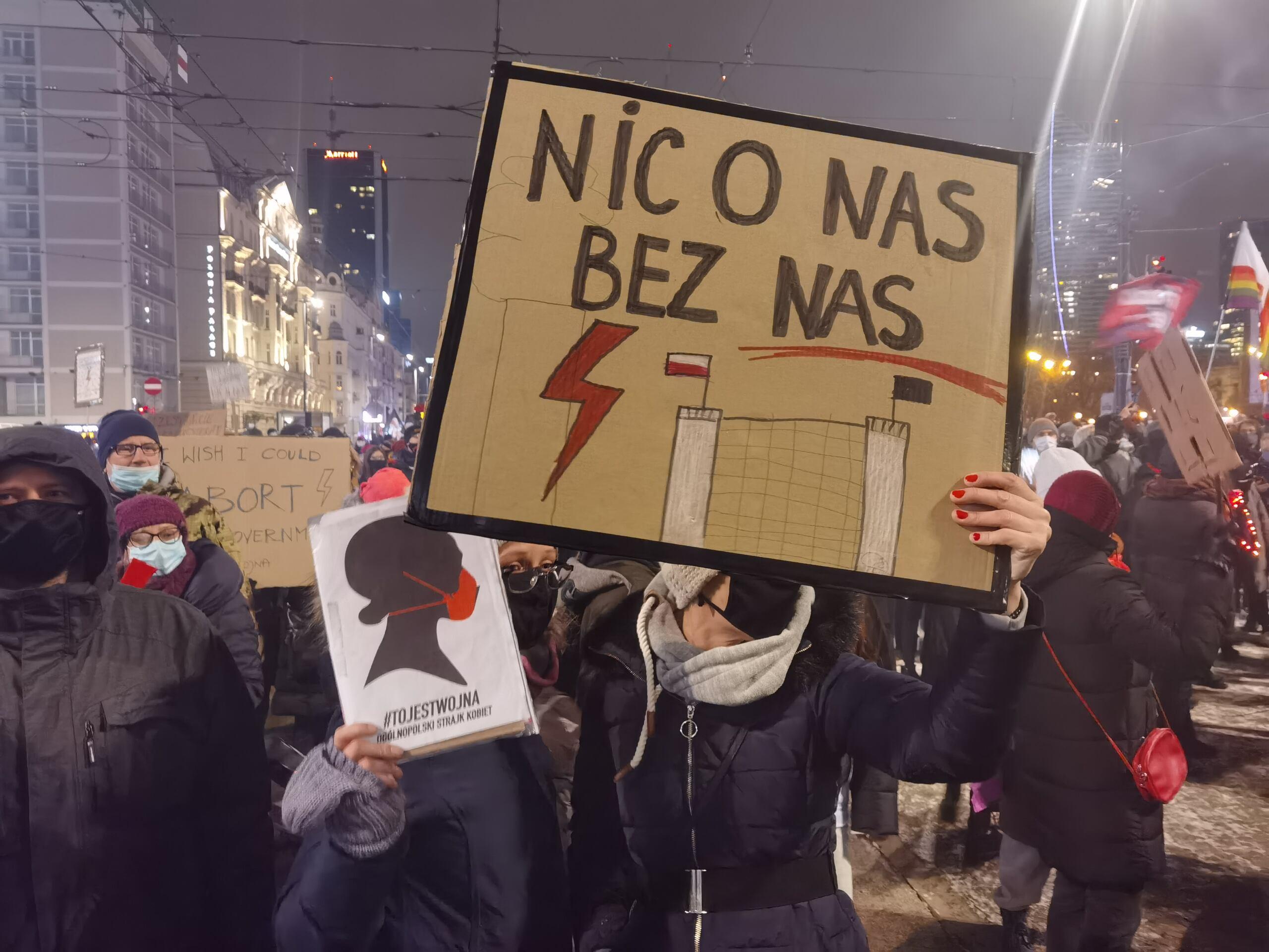 """Nic o nas bez nas"", Strajk Kobiet, 29 stycznia 2021, fot. Robert Jurszo"