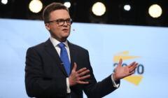 Szymon Hołownia na prezentacji programu Polska 2050