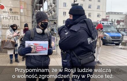 """""""W Rosji ludzie walczą o wolność zgromadzeń, my w Polsce też"""". Polska solidarna z rosyjską opozycją"""