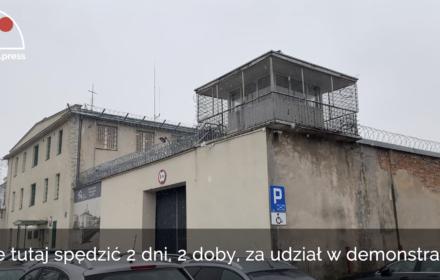 Paweł Kasprzak z Obywateli RP trafił do więzienia, broniąc wolności zgromadzeń