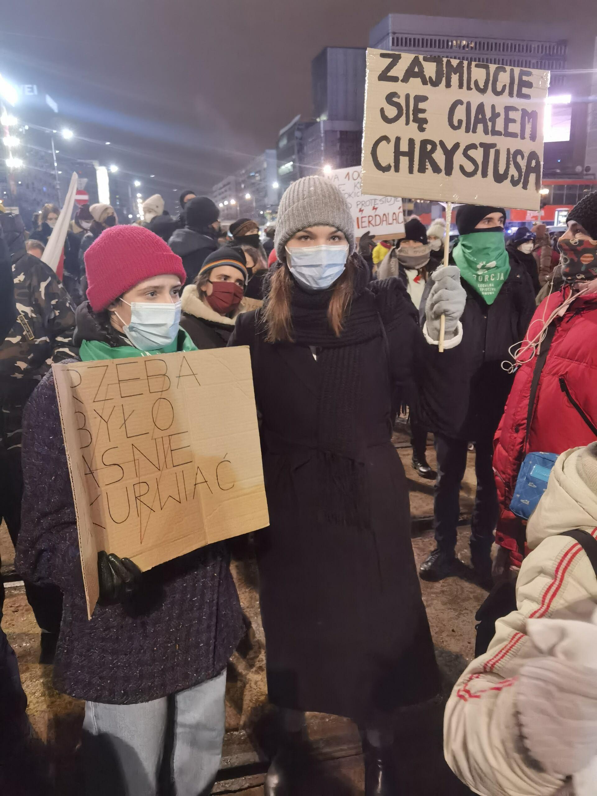 Zajmijcie się ciałem Chrystusa, Strajk Kobiet, 29 stycznia 2021, fot. Robert Jurszo