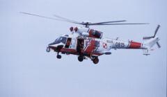 Helikopter, który ma przywieźć Polaka w śpiączce z Wielkiej Brytanii