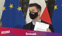 Krzysztof Śmiszek, poseł Lewicy, przedstawia w Sejmie projekt ustawy, znoszący możliwość przyznawania Kościołowi katolickiemu gruntów rolnych Skarbu Państwa na Ziemiach Odzyskanych.