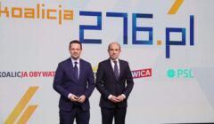 Rafał Trzaskowski i Borys Budka na konwencji Koalicji Obywatelskiej