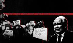 protest wolnych mediów