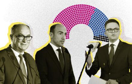 Włodzimierz Czarzasty, Borys Budka i Szymon Hołownia - liderzy największych partii opozycyjnych w Polsce