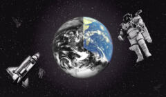 planeta Ziemia - zaznaczona kolorowa część to symbol ustaleń z porozumienia z Kunming