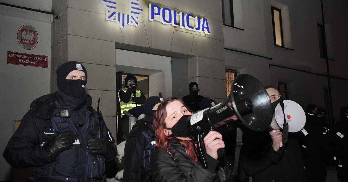Strajk Kobiet - blokada, Warszawa, 19.02.2021