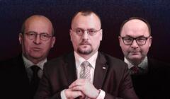 Zbigniew Rau, Jacek Izydorczyk i Andrzej Papierz z MSZ