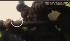 atak na Kapitol, widok z kamery policjanta
