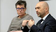 Konferencja prasowa Elzbiety Podlesnej w Warszawie