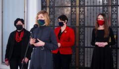 Magdalena Biejat, Anna Maria Żukowska, Agnieszka Dziemianowicz-Bąk po spotkaniu opozycji w sprawie