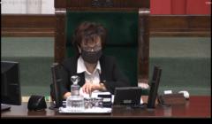 Elżbieta Witek podczas posiedzenia Sejmu