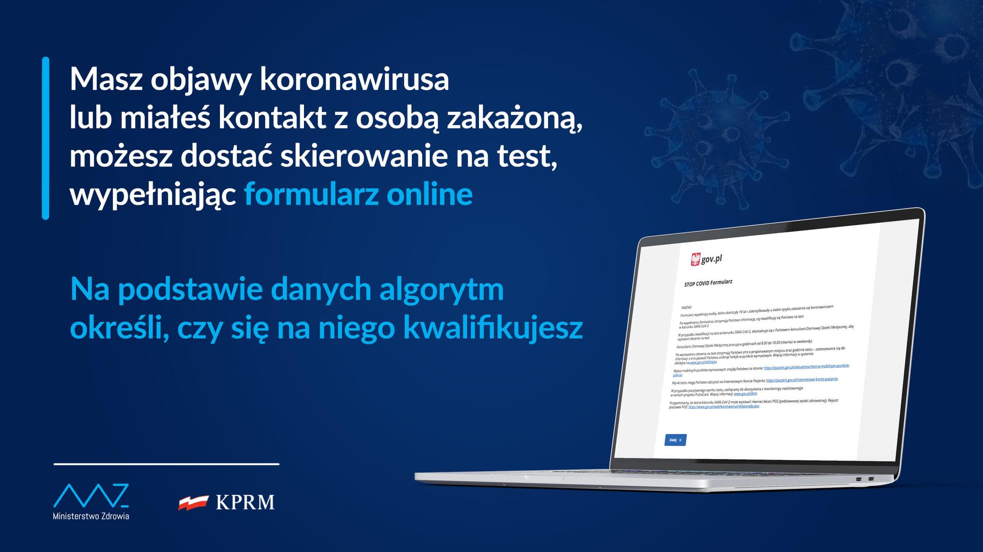 rejestracja na test PCR online