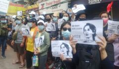 Birma - protesty