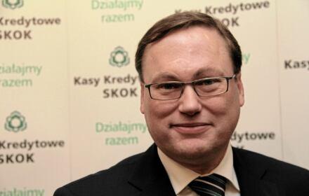 Grzegorz Bierecki w 2012 roku - jeszcze jako prezes Krajowej SKOK