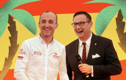 Robert Kubica i Daniel Obajtek wśród palm