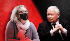 Jarosław Kaczyński z prawej, Marte Lempart z lewej