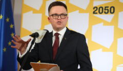 Konferencja Szymona Holowni nt. relacji miedzy panstwem a Kosciolem w Polsce