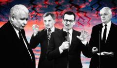 Jarosław Kaczyński, Zbigniew Ziobro, Mateusz Morawiecki, Jarosław Gowin. Spory w tak zwanej Zjednoczonej Prawicy wiosną 2021 są na porządku dziennym