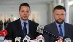 Rafał Trzaskowski i Marcin Kierwiński w Sejmie