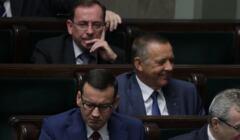 Mariusz Kamiński, Marian Banaś i Mateusz Morawiecki w Sejmie