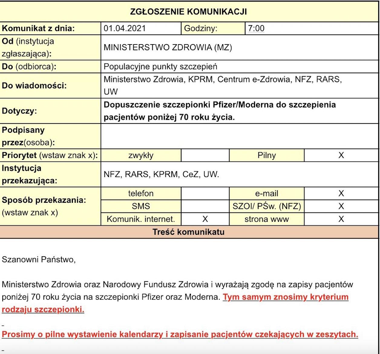 info do punktów szczepień