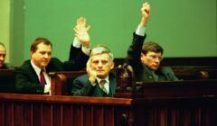 Jerzy Buzek i Leszek Balcerowicz w Sejmie