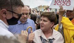 Walczacy o reelekcje Andrzej Duda agituje w Rybniku - ostatni wiec przed cisza wyborcza