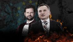 Z lewej rzecznik generalny TSUE Michal Bobek, z prawej Zbigniew Ziobro