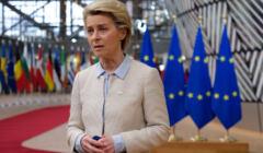 Przewodnicząca KE Ursula von der Leyen w budynku Rady Europejskiej