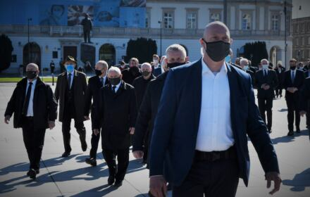 Miesięcznica smoleńska, 10.05.2021, Jarosław Kaczyński