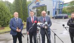 czesko-polska konferencja prasowa ws. Turowa przed kopalnią
