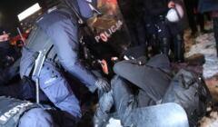 Zatrzymanie podczas demonstracji 20.01.21 w Warszawie