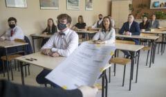 Matura z języka polskiego w pandemicznym reżimie w IV LO w Białymstoku