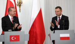 Prezydent Turcji Recep Erdogan i prezydent Polski Andrzej Duda