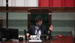 Marszałek Elżbieta Witek na posiedzeniu Sejmu