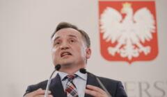 Konferencja prasowa Zbigniewa Ziobry w Warszawie w sprawie reformy prawa rodzinnego