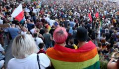 08.08.2020 Warszawa . Wiec poparcia dla aresztowanej Margot prze palacem kultury . F