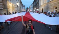 Marsz dla Białorusi ulicami Krakowa