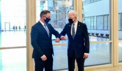 Andrzej Duda i Joe Biden na szczycie NATO w Brukseli, 14 czerwca 2021