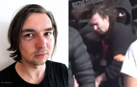 Maciek Piasecki pobity przez homofoba