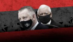 Z lewej prezes NIK Marian Banaś, z prawej prezes PiS Jarosław Kaczyński
