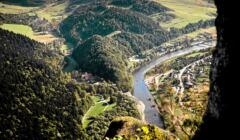 Pieniński Park Narodowy, widok z Trzech Koron na przełom Dunajca